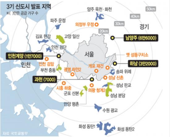 남양주·하남·인천·과천 등 '공공주택지구' 지정